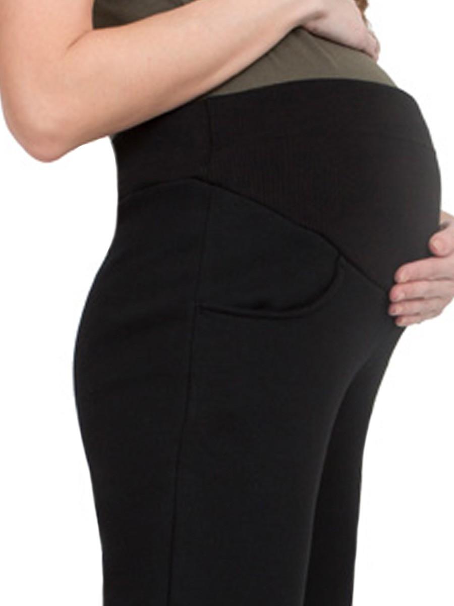 Брюки для беременных (утеплённые, прямые)